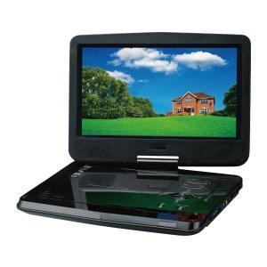 DVDプレーヤー (充電器付き単三電池プレゼント) ポータブルDVDプレーヤー DVDプレイヤー グリーンハウス 10.1型ワイド液晶 乾電池モデル GH-PDV10W-BK|ciz|02