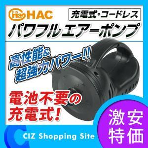 電動ポンプ エアポンプ 空気入れ 充電式 コードレス DC両対応 パワフルエアーポンプ 3種類のノズル付き|ciz