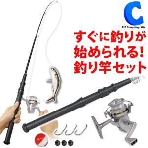 釣り竿セット 初心者 子供 釣りセット 海釣り 川釣り 両用 魚釣り道具 フィッシング スターターセット HAC2760の画像