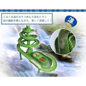流しそうめん機 スライダー そうめん流し器 流しそうめん 大型 組み立て式 電池式 水循環装置付 HT-S336 (送料無料) ciz 03