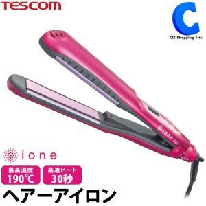 テスコム ヘアアイロン 2way カール ストレート マイナスイオン ピンク TESCOM ione ITH1510-P|ciz