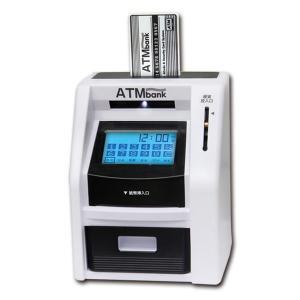 貯金箱 おもしろ お札 ATM 鍵つき 金庫 ATM貯金箱 タッチパネル おもちゃ タッチパネルATMバンク KK-00173 (送料無料)|ciz|02