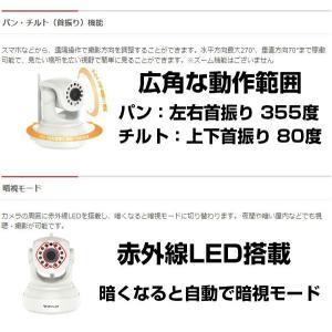 留守番カメラ ペット 犬 猫 声かけ スマホ 室内カメラ ネットワークカメラ Wi-Fi 200万画素 フルHD 赤外線LED チルト/パン対応 KVC24S (送料無料)|ciz|04