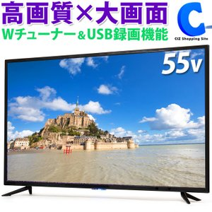 テレビ 55V型 外付けHDD 録画機能付き 液晶テレビ Wチューナー搭載 裏番組録画可能 地デジ BS CS 3波対応 TEES LE-5531TS (メーカー直送)|ciz