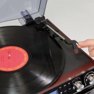 レコードプレーヤー (送料無料) クマザキエイム Bearmax マルチオーディオシステム MA-17CD オーディオプレーヤー レコードプレーヤー スピーカー内蔵|ciz|02