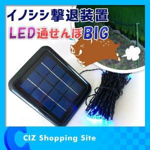 イノシシ対策 ライト LED通せんぼBIG ソーラー充電式 動物撃退器 害獣対策 害獣 駆除 イノシシ撃退装置 魔法の光|ciz