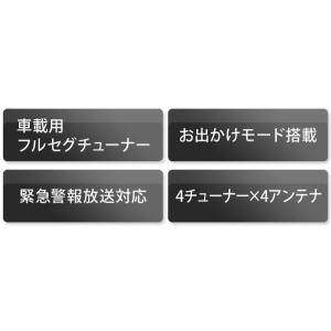 地デジチューナー SOBY MS-F4X4 フルセグ/ワンセグ 車載用 地上デジタルチューナー (地デジチューナー) 4×4 車|ciz|03