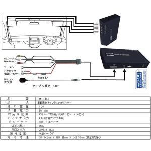 地デジチューナー SOBY MS-F4X4 フルセグ/ワンセグ 車載用 地上デジタルチューナー (地デジチューナー) 4×4 車|ciz|04