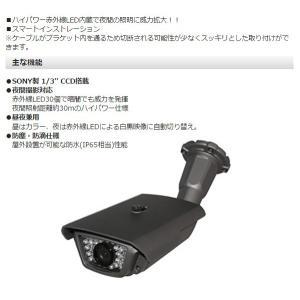 (送料無料) FRC NEXTEC 防塵・防滴・赤外線監視カメラ 防犯カメラ 監視カメラ 赤外線LED30個 ブラケット内ケーブルタイプ NX-V325S|ciz|04