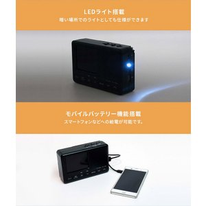 テレビ付きラジオ ワンセグ 防災 手回し充電 小型 小さい LEDライト付き 3.2型液晶 携帯 持ち運び OT-PT32TE|ciz|06