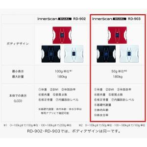 体重計 体脂肪計 タニタ(TANITA) インナースキャンデュアル スマホ対応 体重体組成計 デジタル体重計 体組成計 RD-903|ciz|05