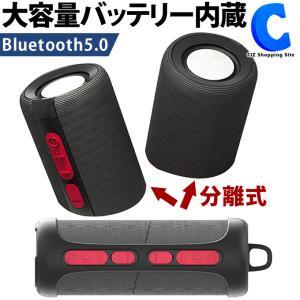 スピーカー Bluetooth 5.0 おしゃれ 高音質 重低音 小型 分離式 2.0ch SaiEL SLI-ABS10|ciz