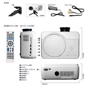 プロジェクター DVD 一体型 家庭用 小型 ホームシアター HDMI端子 コンパクト 30〜150インチ VARTON VAP-9000|ciz|10