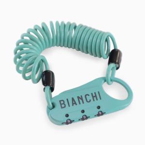 自転車 カギ ロック Bianchi ビアンキ ミニロック A 1500mm×3mm チェレステ