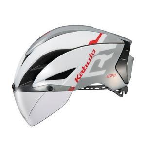 自転車 ヘルメット OGK KABUTO オージーケーカブト AERO-R1 G-1 エアロ ホワイ...