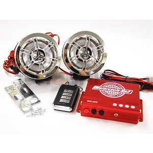 バイク 二輪 オーディオ スピーカー アンプ ビッグスクーター セット USB SDカード対応 MP...