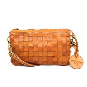 5822 レディース ズッケロフィラート フェス レザー ヌメ革 牛革 本革 斜め掛け ポーチ メッシュ ショルダーバッグ 正規品 /zucchero bag(おまけ付)|ck-custom