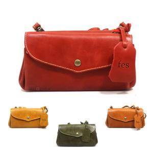 5841 ~ レディース フェス ズッケロフィラート オイル レザー 本革 ポーチ 斜め掛け お財布 ショルダーバッグ 正規品 4カラー /fes wallet  bag (おまけ付)|ck-custom