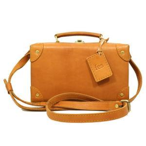 8015 フェス レディース ショルダーバッグ ミニトランク ボックス型 カウレザー 牛革 本革  ハンドバッグ 2WAY 正規品 長方形/fes bag ブラウン おまけ付き|ck-custom