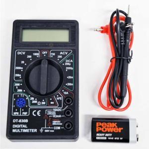 デジタルテスター 電気測定器 リード付属 交流 直流 対応 電圧 抵抗 ダイオード hfe マルチメ...