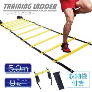 トレーニングラダー 5m プレート 9枚 固定幅 体幹 陸上 バスケ サッカー フットサル 器具 スポーツ用具 スポーツ用品 収納袋付き