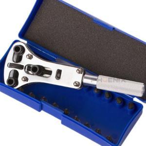 腕時計 修理 三点支持オープナー 裏蓋オープナー 4種18ビット 備品 道具 メンテナンス 電池交換 自分で ケース付き|ck-custom