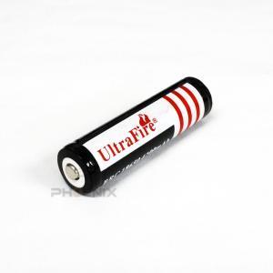 18650 充電池 1本 バッテリー リチウムイオン電池 Ultrafire 充電 アウトドア 過充電保護 保護回路付き ランタン ヘッドライト 懐中電灯 災害 黒|ck-custom