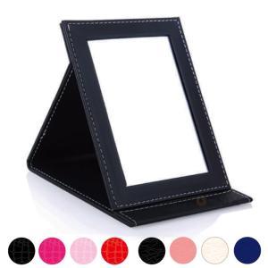卓上 ミラー 折りたたみ 化粧鏡 スタンドミラー テーブルミラー メイク ミラー  おしゃれ 持ち運び 旅行 プレゼント 角度調整 中型 9カラー|ck-custom