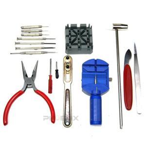 腕時計修理工具 16点 セット キット 工具 備品 道具 ピン  メンテナンス 修理 電池交換 自分で