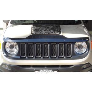 バグガード MOPAR Jeep US純正アクセサリー バグフレクター フードデフレクター フロントプロテクター BUレネゲード|ck-parts
