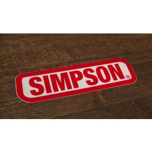 ステッカー SIMPSON 小 7.6x2.3cm アメリカン レーシング シール デカール ブランド メーカー ck-parts