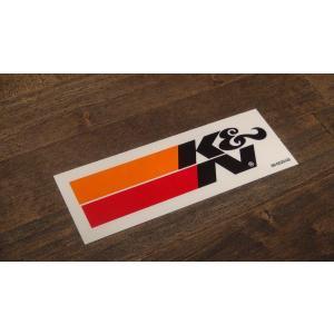 ステッカー K&N 小 10.7x3.1cm アメリカン レーシング シール デカール ブランド メーカー ck-parts