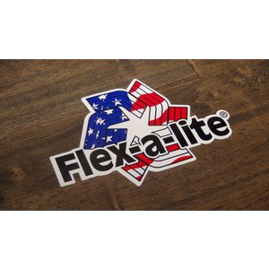 ステッカー Flex-a-lite 小 10.6x6.9cm アメリカン レーシング シール デカール ブランド メーカー ck-parts