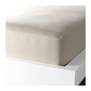 IKEA イケア ボックスシーツ カバー ベージュ セミダブル 10228168 DVALA|clair-kobe