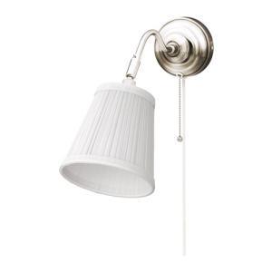 IKEA イケア ウォールランプ ニッケルメッキ ホワイト 00163879 ARSTID|clair-kobe