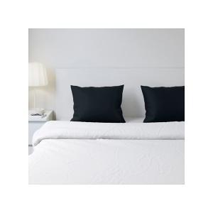 IKEA イケア 枕カバー 2 ピース ブラック50x60cm 70357303 DVALA|clair-kobe