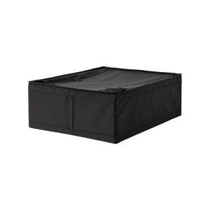 IKEA イケア 収納ケース ブラック 60290365 幅44×奥行き55×高さ19 cm SKUBB スクッブ|clair-kobe