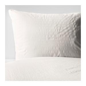 IKEA イケア 掛け布団カバー&枕カバー ホワイト シングル 80173370 OFELIA VASSの写真