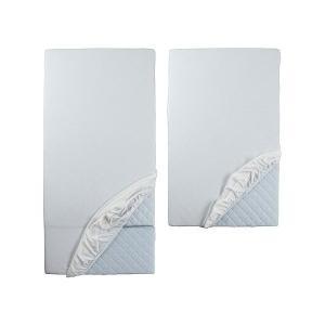IKEA イケア ボックスシーツ カバー 伸長式ベッド用 2枚セット ホワイト 80203490 LEN clair-kobe