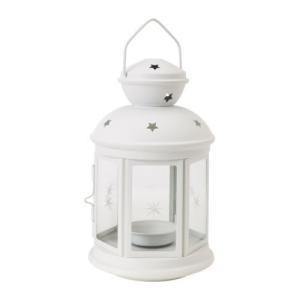 IKEA イケア ティーライト用ランタン 室内 屋外用 ホワイト 90143189 ROTERA clair-kobe