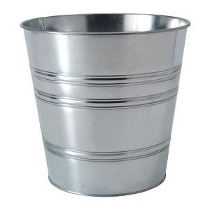 IKEA イケア 鉢カバー 室内 屋外用 亜鉛メッキ a20169446 SOCKER|clair-kobe