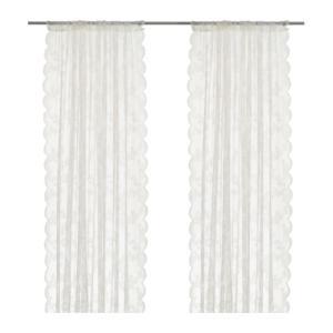 IKEA イケア ネットカーテン1組 オフホワイト 145x250cm 40171863 ALVINE SPETS clair-kobe