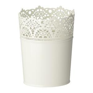 IKEA イケア 鉢カバー 室内 屋外用 オフホワイト a60193345 SKURAR|clair-kobe