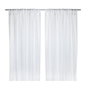 IKEA イケア シアーカーテン1組 ホワイト 145x250cm 70232332 TERESIA clair-kobe