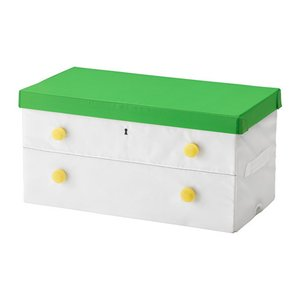 IKEA イケア ふた付きボックス グリーン ホワイト b30328845 FLYTTBAR|clair-kobe