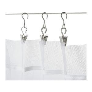 パッケージ個数: 24 ピース   - クリップでカーテンをはさんで、カーテンワイヤーにつるせます ...