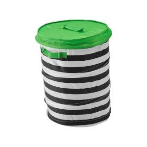 IKEA イケア バスケット ふた付き グリーン b70328829 FLYTTBAR|clair-kobe