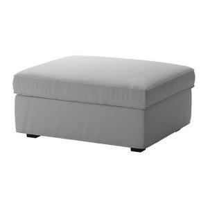 IKEA イケア カバー フットスツール収納付用 オッルスタ ライトグレー c00278658 KIVIK clair-kobe