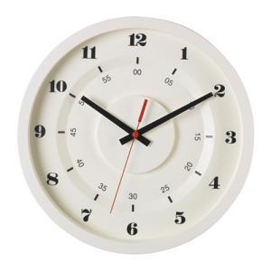 IKEA イケア ウォールクロック 掛け時計 メタル ホワイト d30358738 SKRILLA|clair-kobe