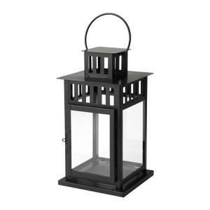 IKEA イケア ブロックキャンドル用ランタン 室内 屋外用 ブラック d50156112 BORRBY clair-kobe